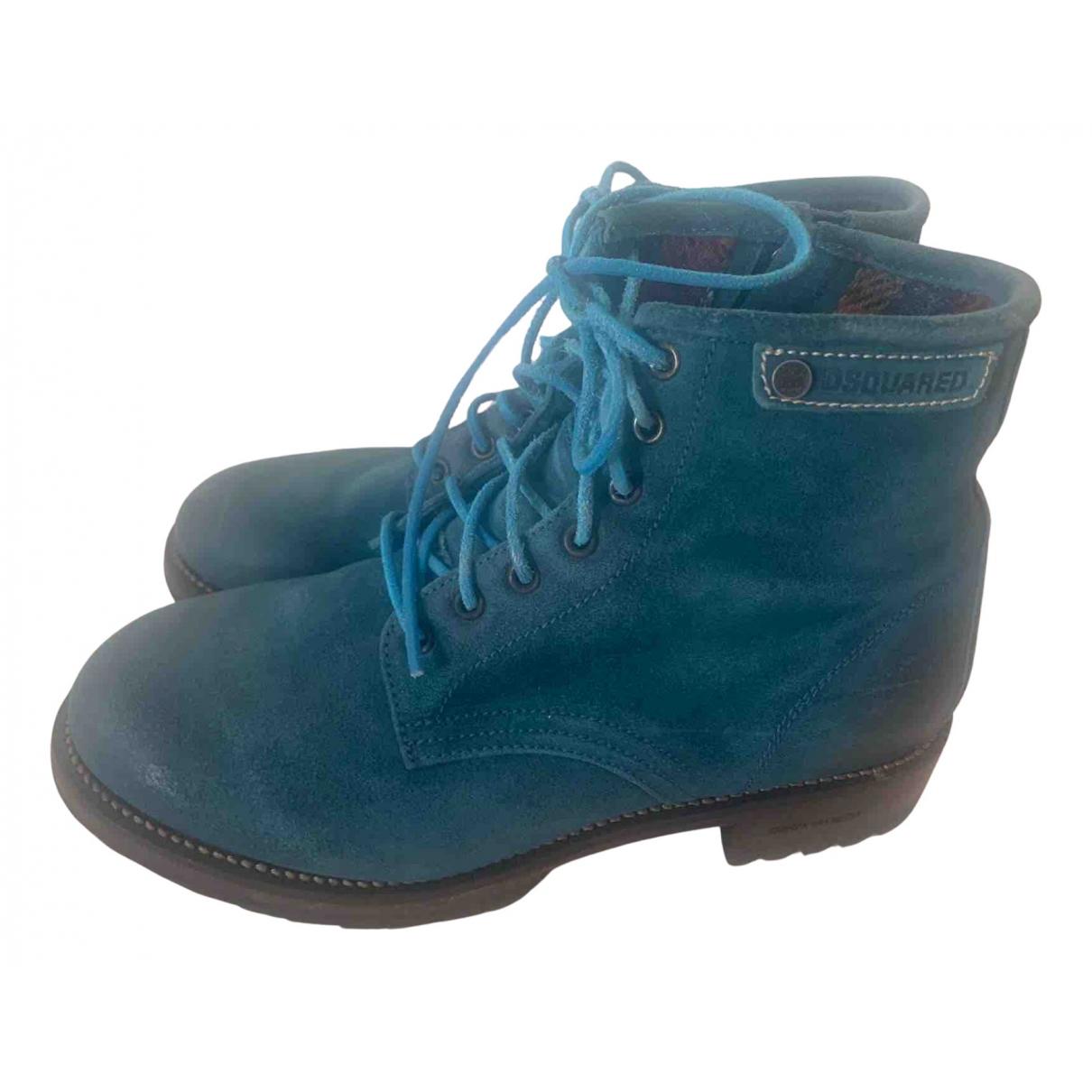 Dsquared2 \N Stiefel in  Blau Veloursleder