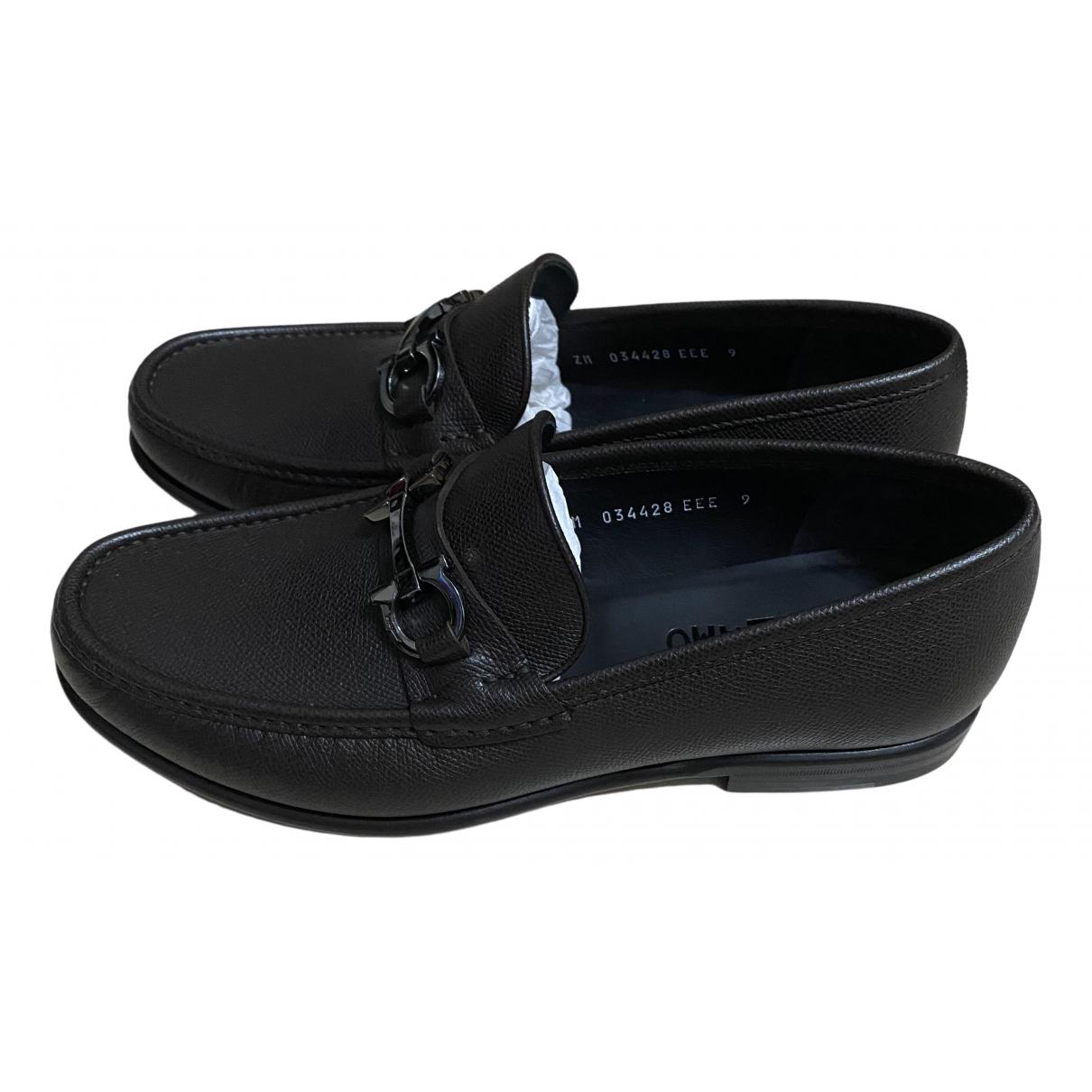 Salvatore Ferragamo \N Brown Leather Flats for Men 9 UK