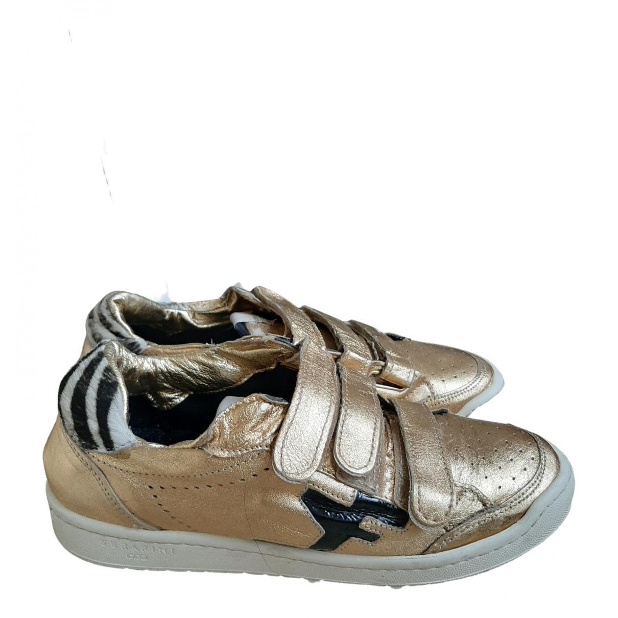 Serafini \N Gold Leather Trainers for Women 39 EU