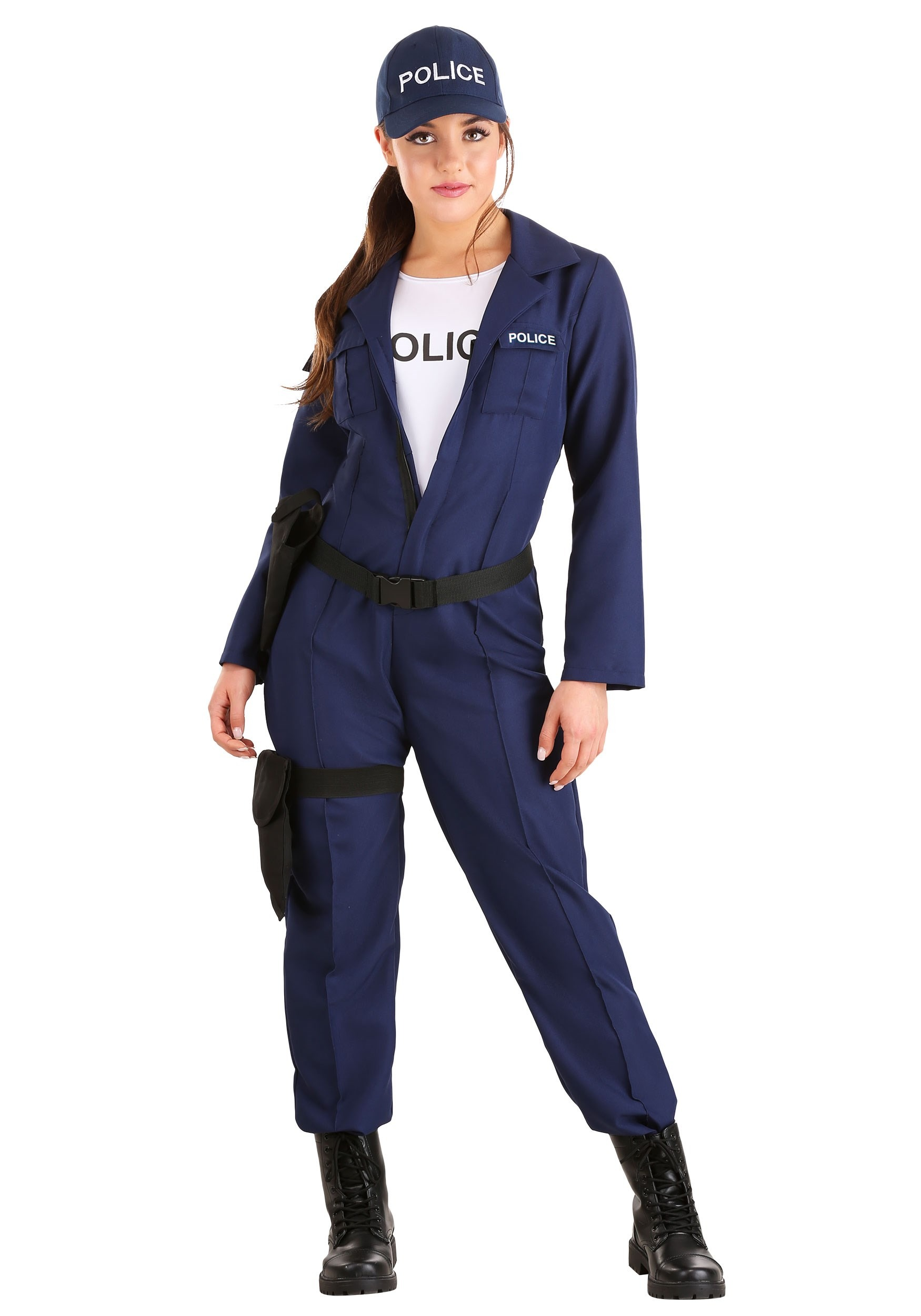 Women's Tactical Cop Jumpsuit Costume