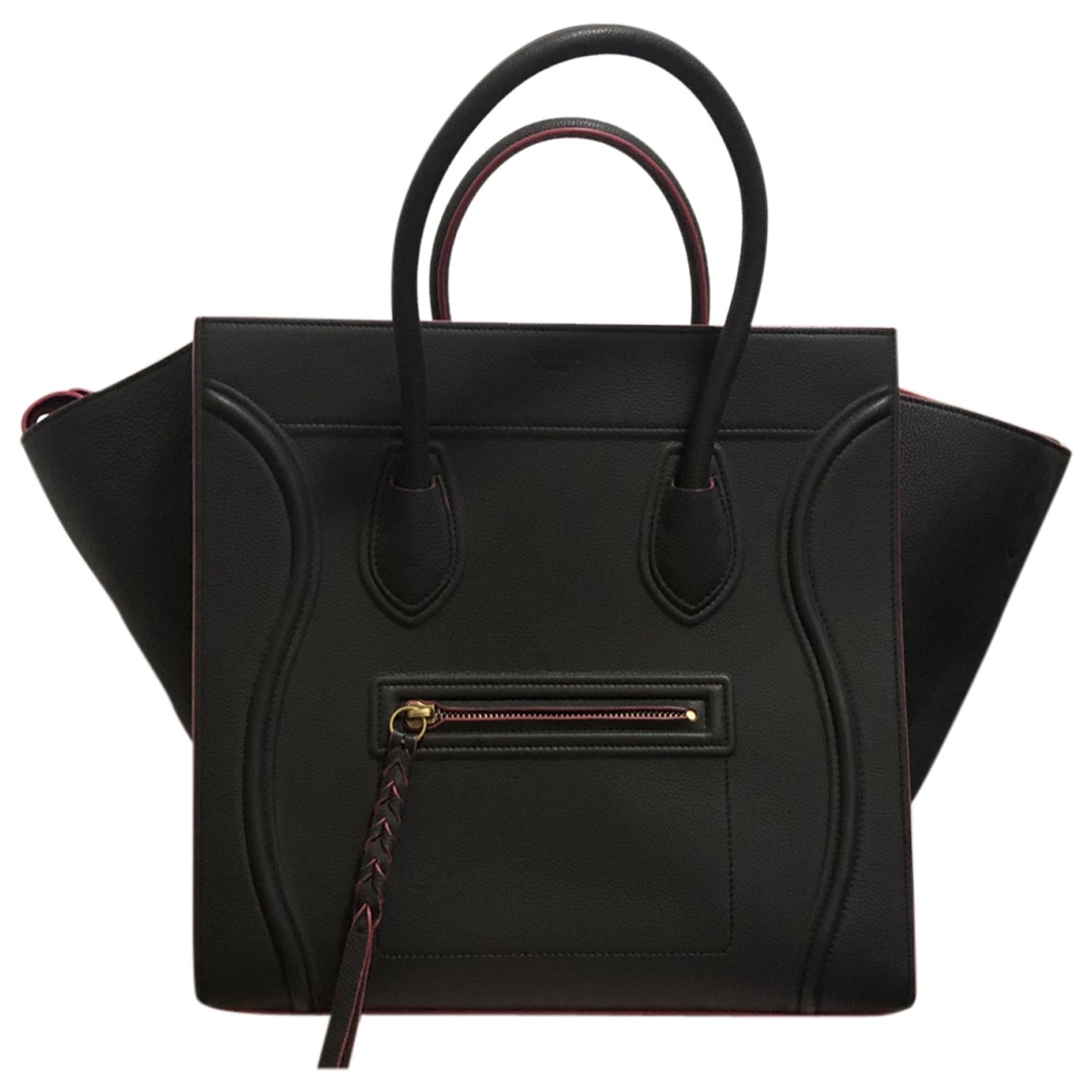 Celine Luggage Phantom Handtasche in  Anthrazit Leder