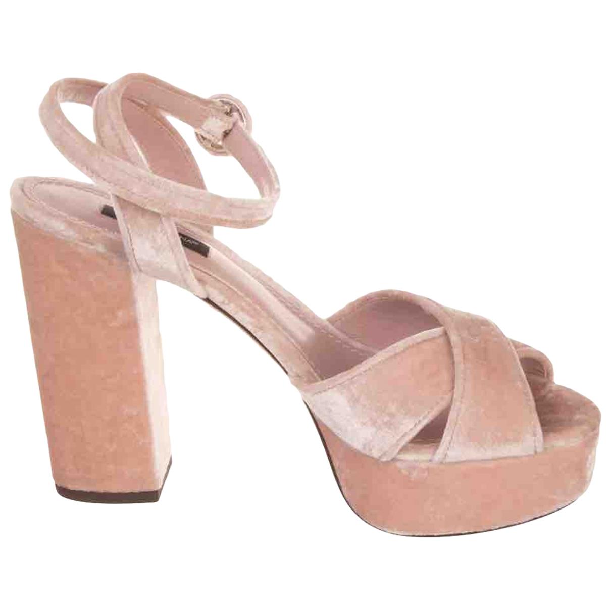 Sandalias de Terciopelo Dolce & Gabbana