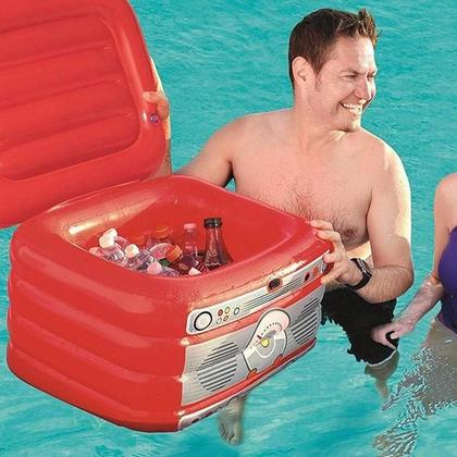 Inflatable Party Turntable Cooler for Pool Lake Summer Fun, 24