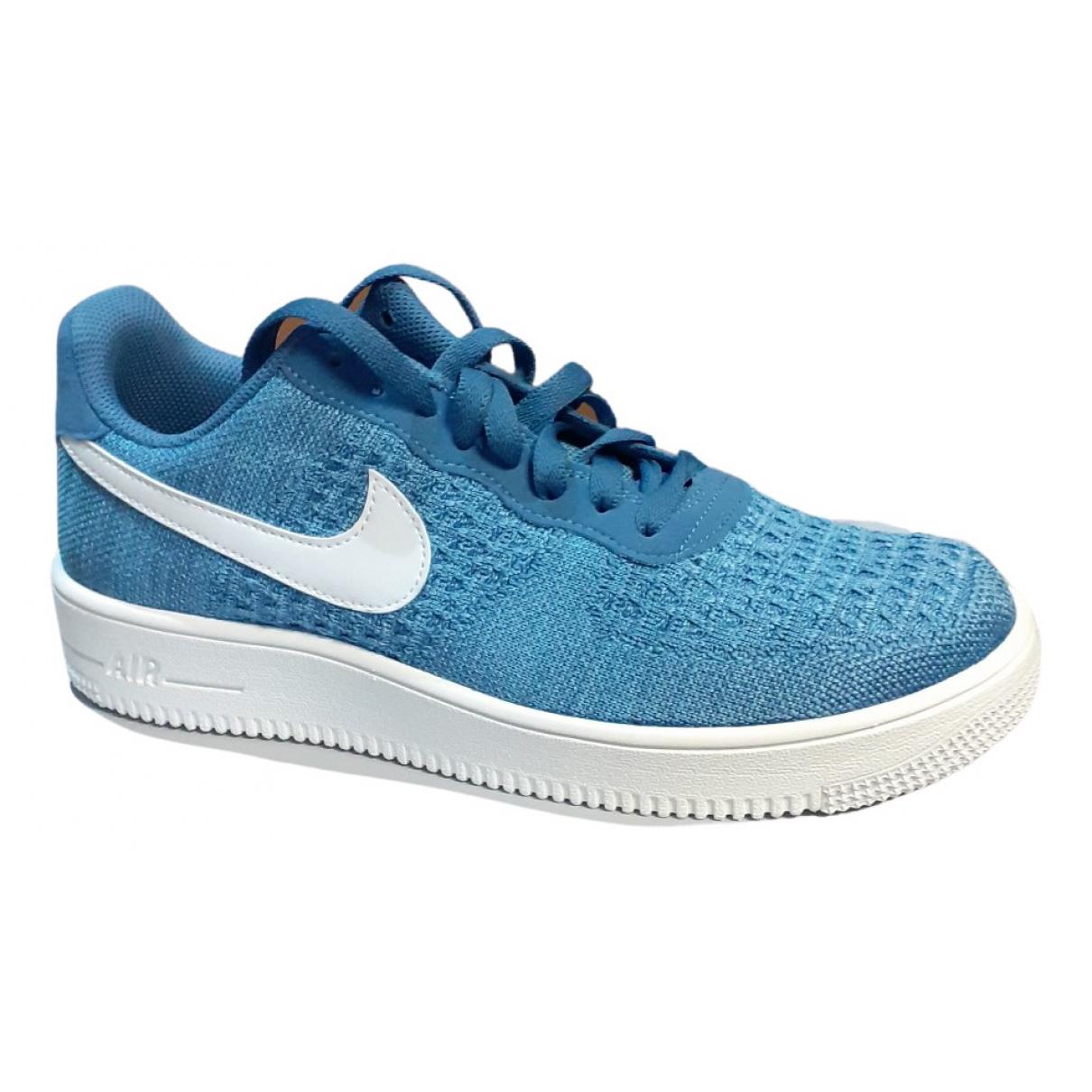 Nike - Baskets Air Force 1 pour homme en toile - bleu