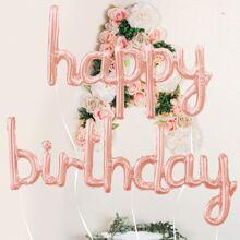 4 piezas set globo decorativo de cumpleaños