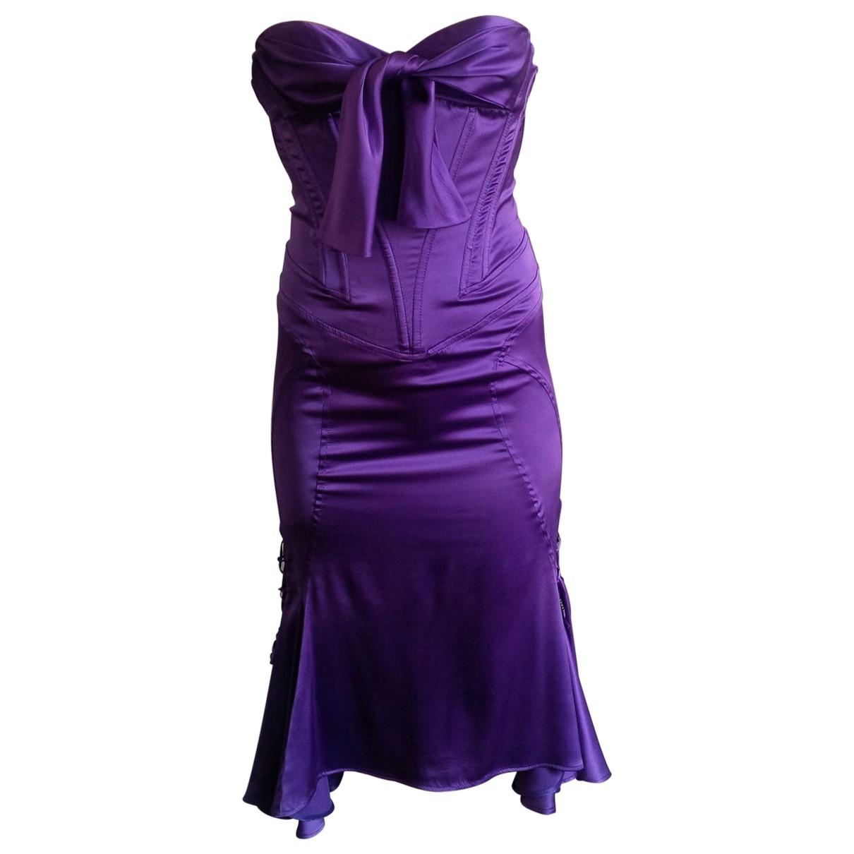 Just Cavalli \N Kleid in  Lila Seide