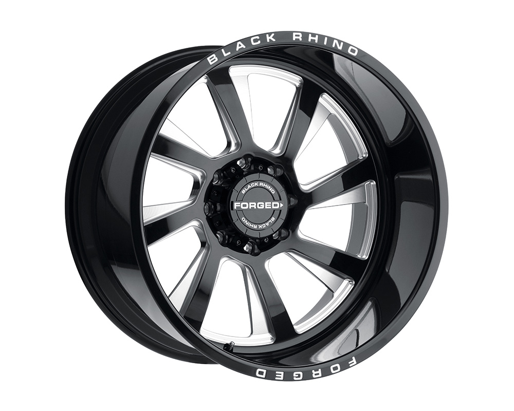 Black Rhino Blaster Wheel 24x14 6x139.7 -76mm Gloss Black w/Milled Spokes Left