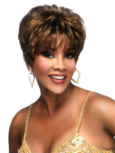 Milanoo Deep Brown Curly Quality Short Wig For Woman