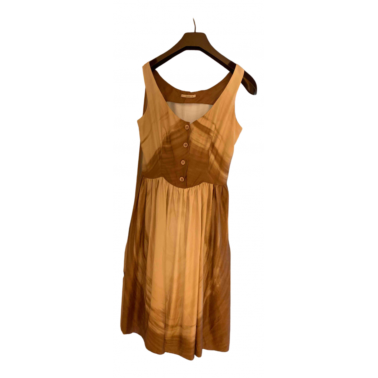 Prada - Robe   pour femme en soie - multicolore