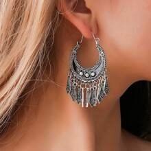 1pair Tribal Tassel Drop Earrings