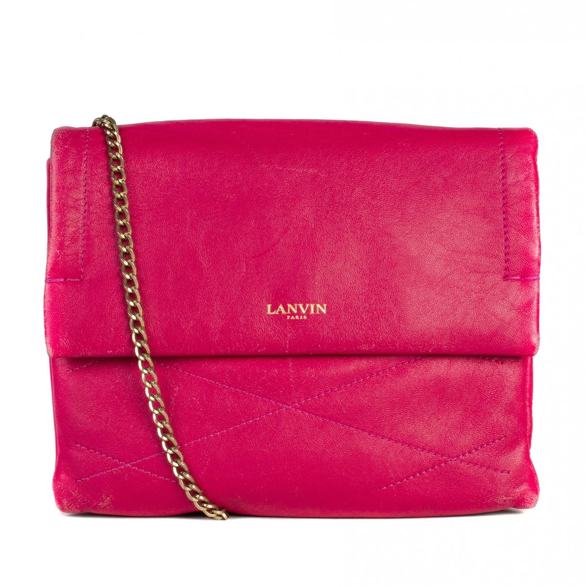 Lanvin Sugar Handtasche in  Rosa Leder