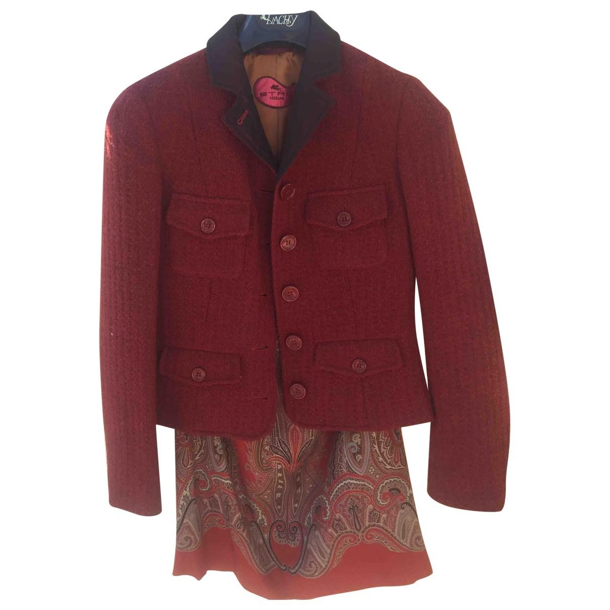 Etro - Veste   pour femme en laine - bordeaux