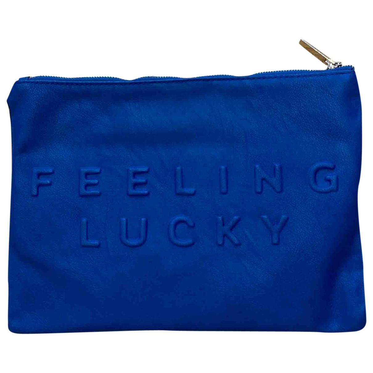 Bolsos clutch en Poliester Azul Zara