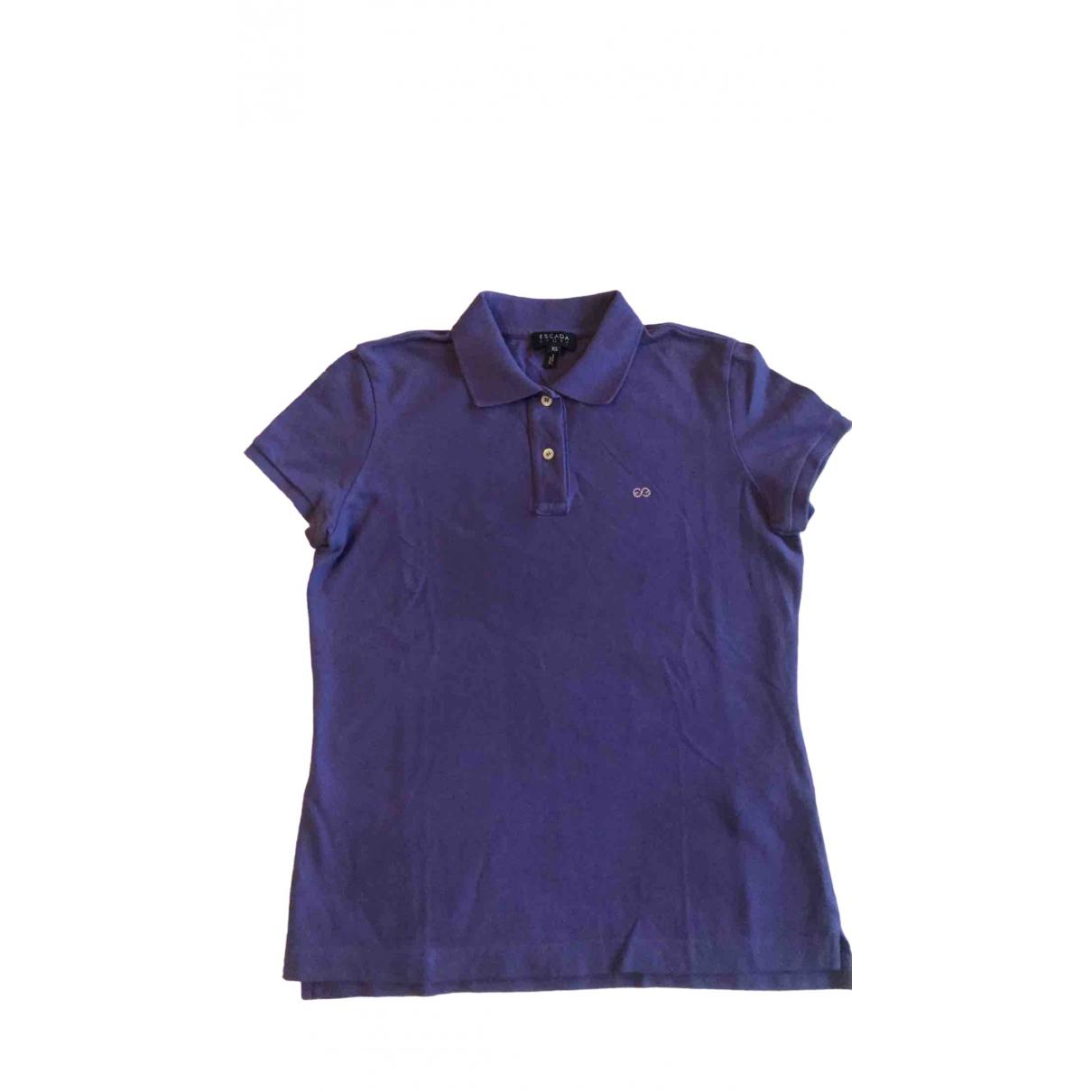 Escada \N Purple Cotton  top for Women 32 FR