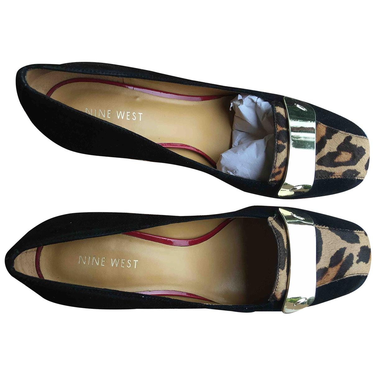 Nine West \N Black Suede Heels for Women 7 US