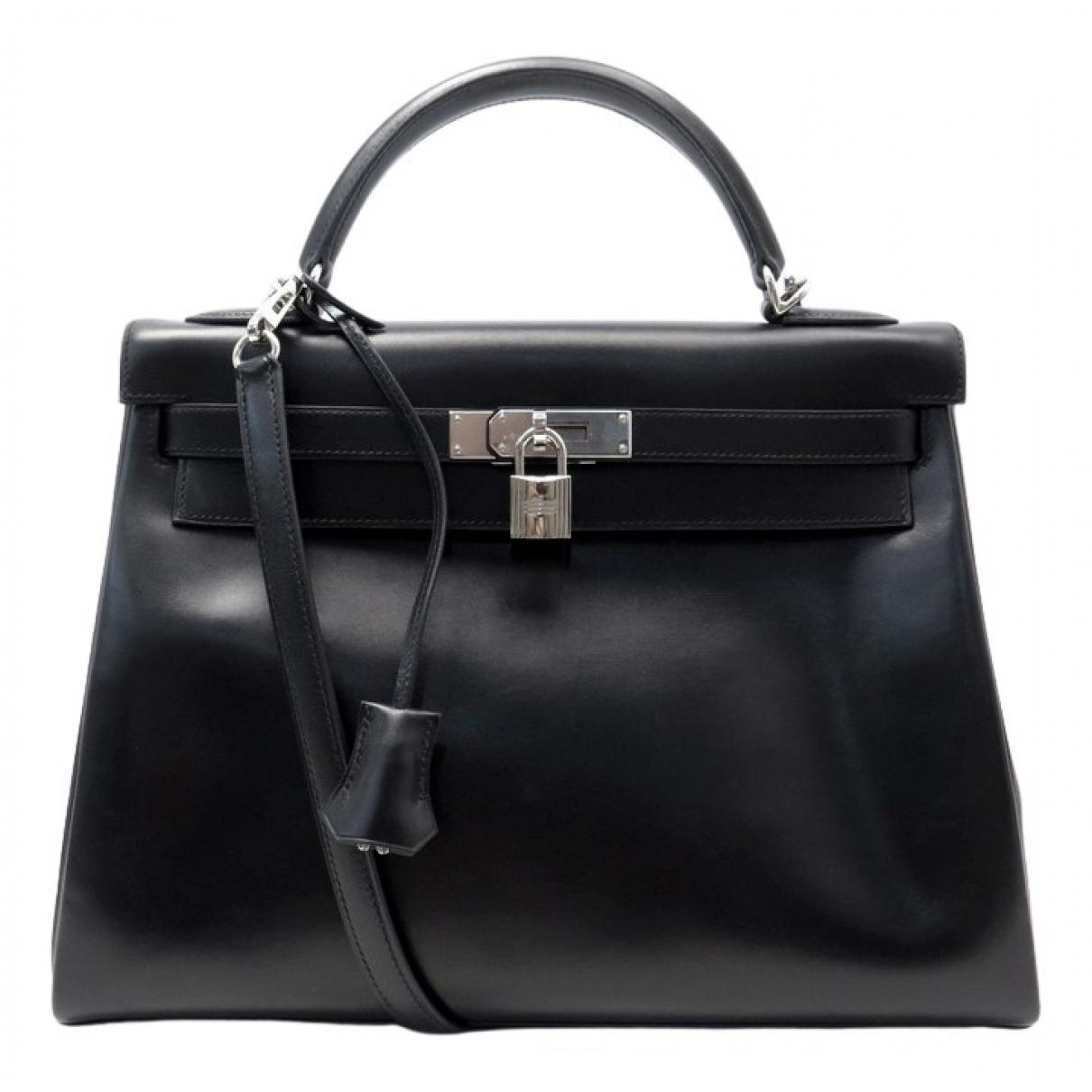 Hermès Kelly 32 Black Leather handbag for Women N