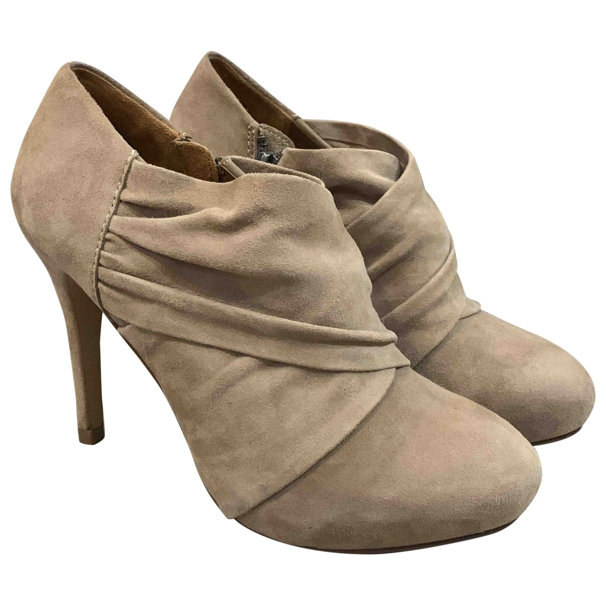Zara \N Beige Suede Ankle boots for Women 39 EU