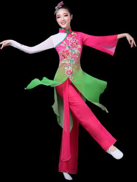 Milanoo Disfraz Halloween Trajes de danza tradicional china Trajes de carnaval asiaticos Traje de 2 piezas Carnaval Halloween