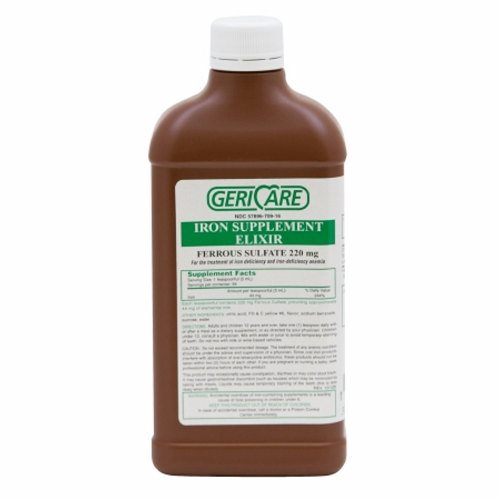 Mineral Supplement GeriCare Iron 220 mg Strength Liquid 16 oz. 16 Oz by McKesson