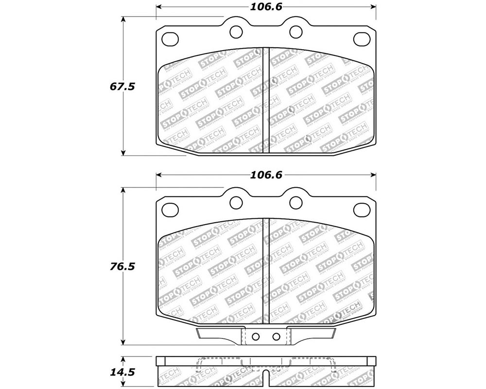 StopTech 308.0331 Street Brake Pads with Shims Mazda RX-7 Front