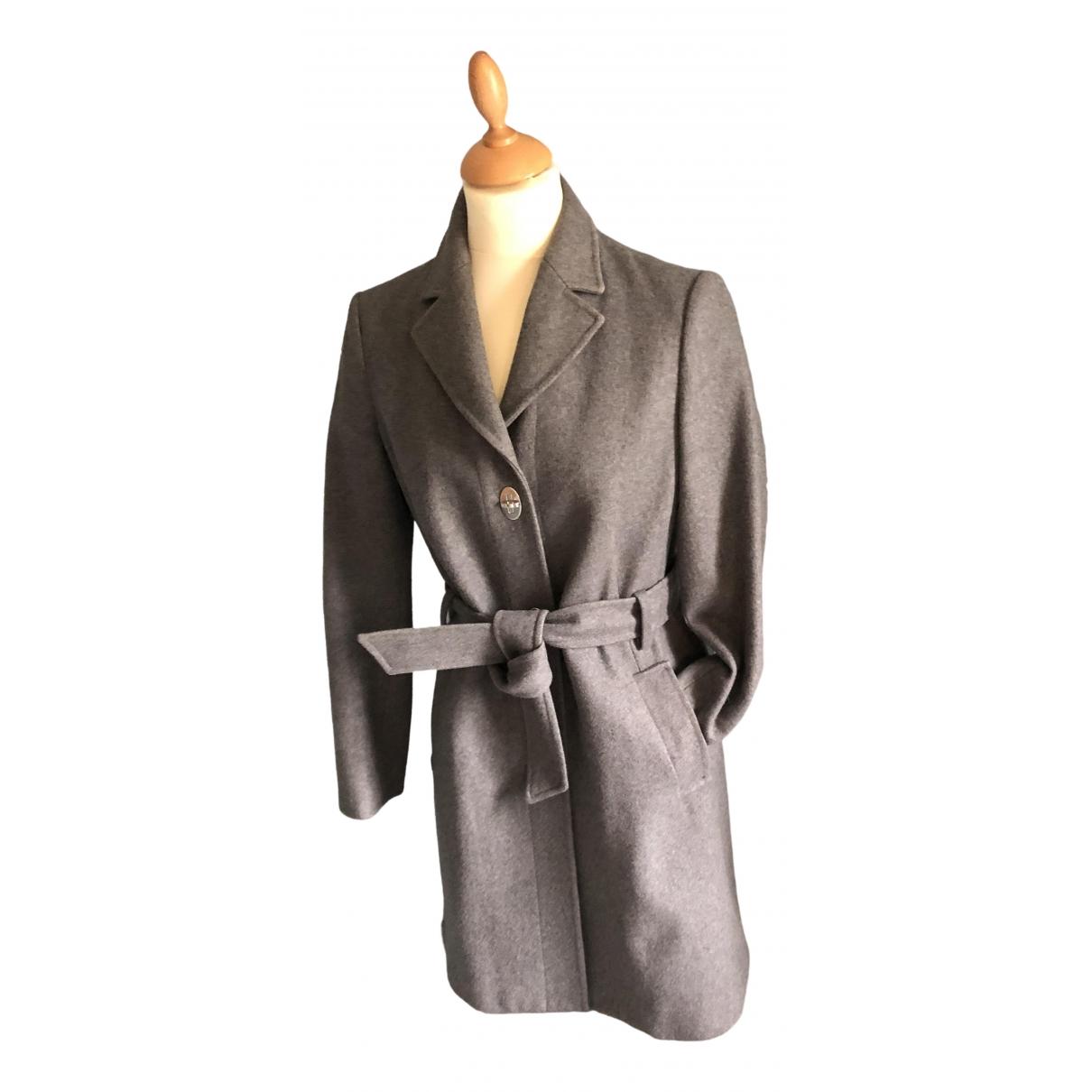 Moschino Love - Manteau   pour femme en laine - gris