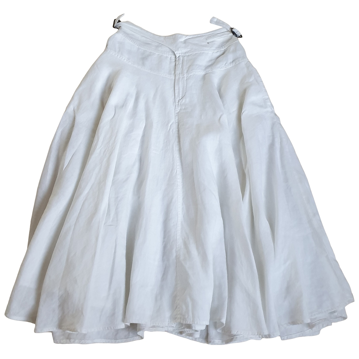 Nicole Farhi \N White Linen skirt for Women S International