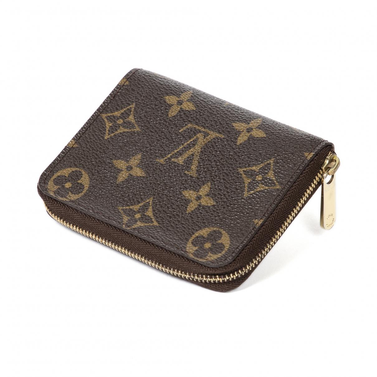 Louis Vuitton Zippy Brown Cotton wallet for Women \N