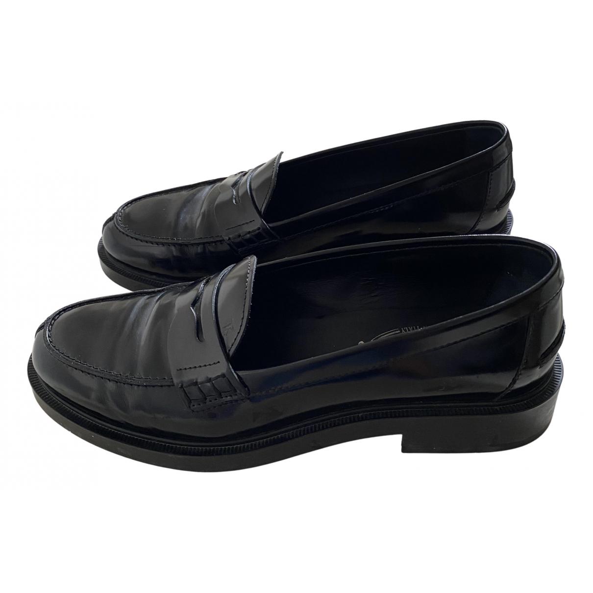 Tods - Mocassins   pour femme en cuir - noir
