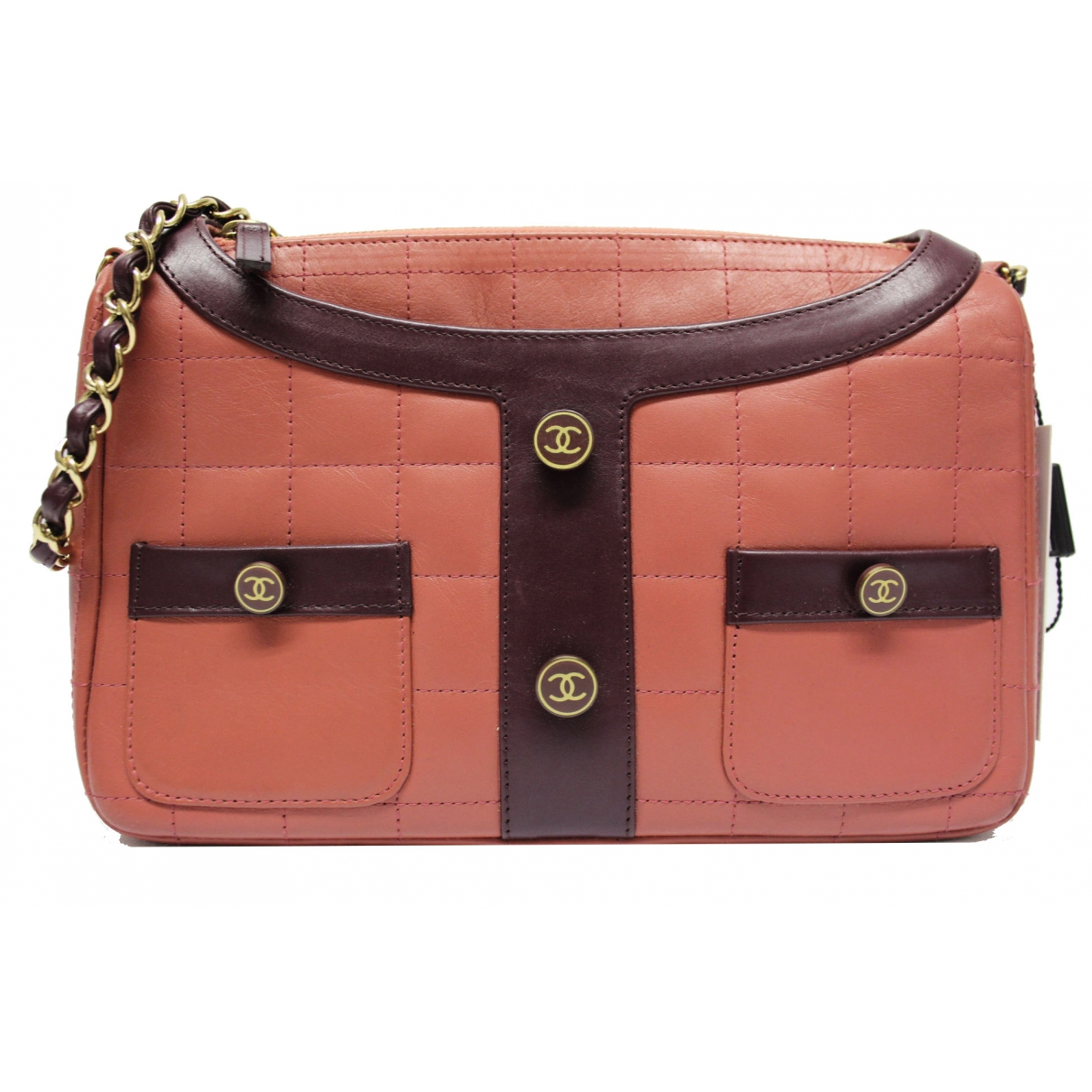 Chanel Girl Pink Leather handbag for Women \N
