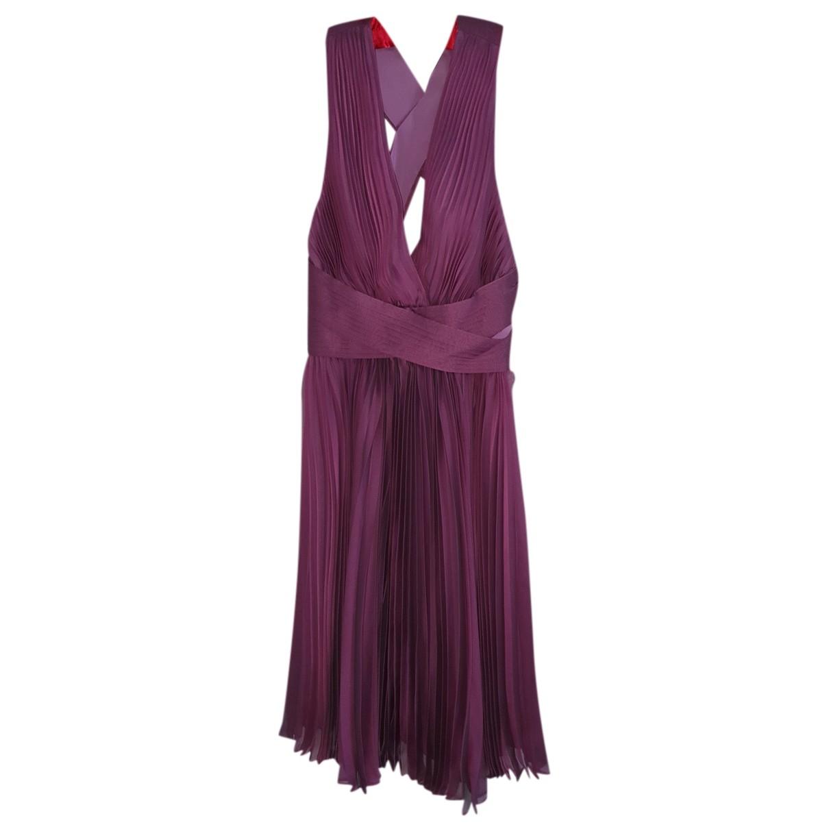 Halston Heritage \N Kleid in  Lila Seide