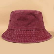 Simple Solid Bucket Hat