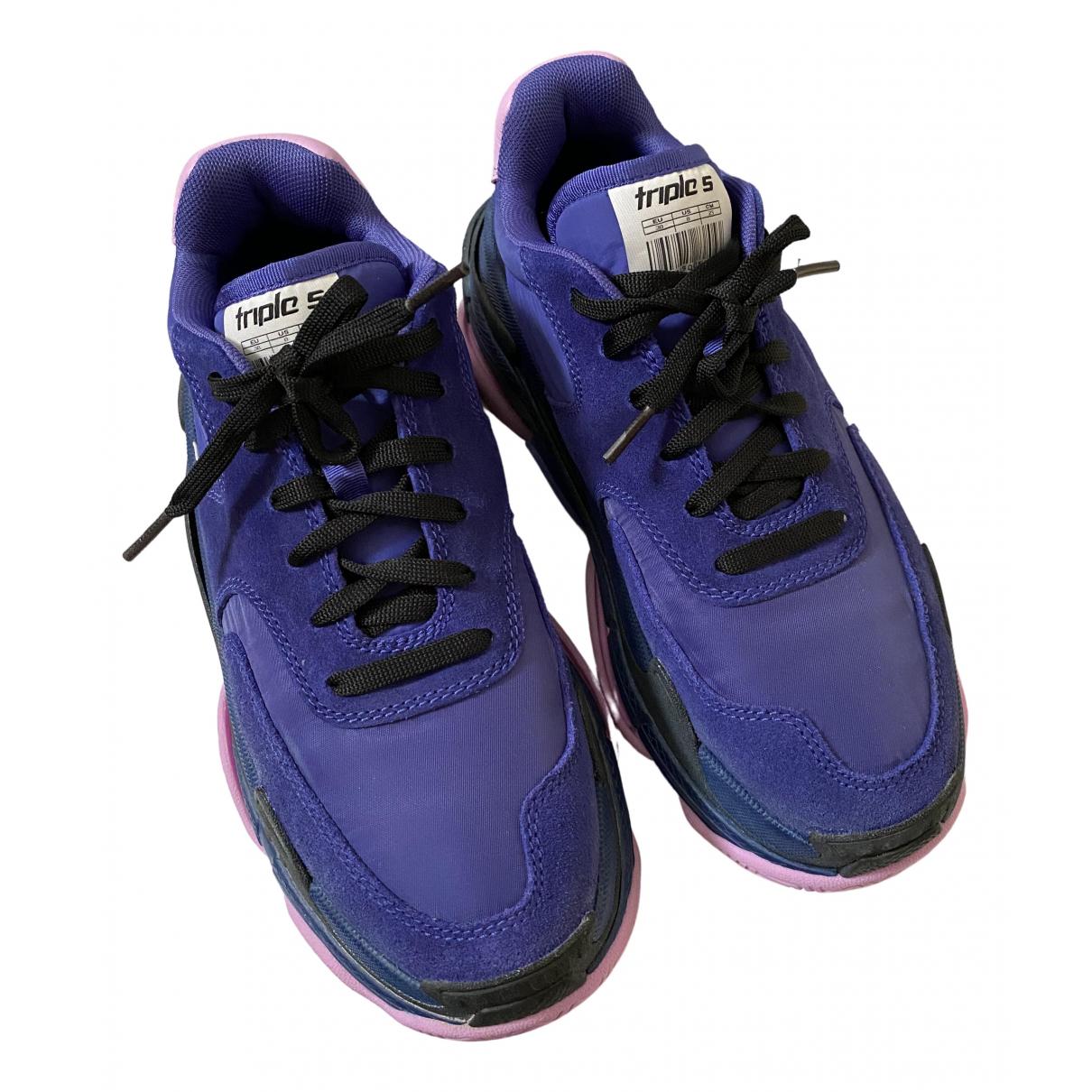 Balenciaga - Baskets Triple S pour femme en toile - violet