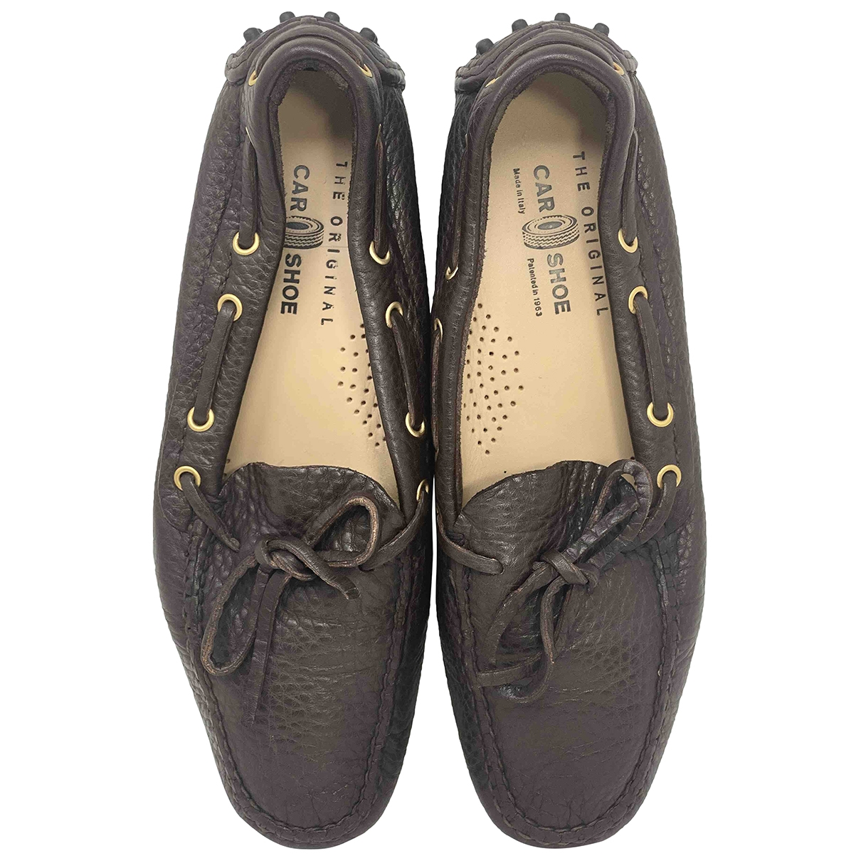 Carshoe \N Brown Leather Flats for Women 37 IT