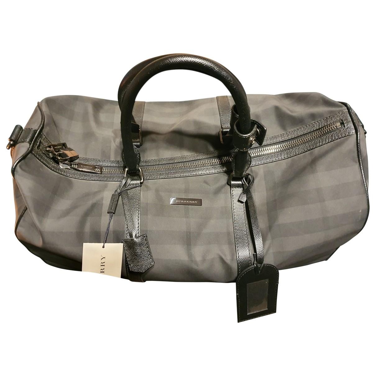 Burberry \N Grey Cloth bag for Men \N