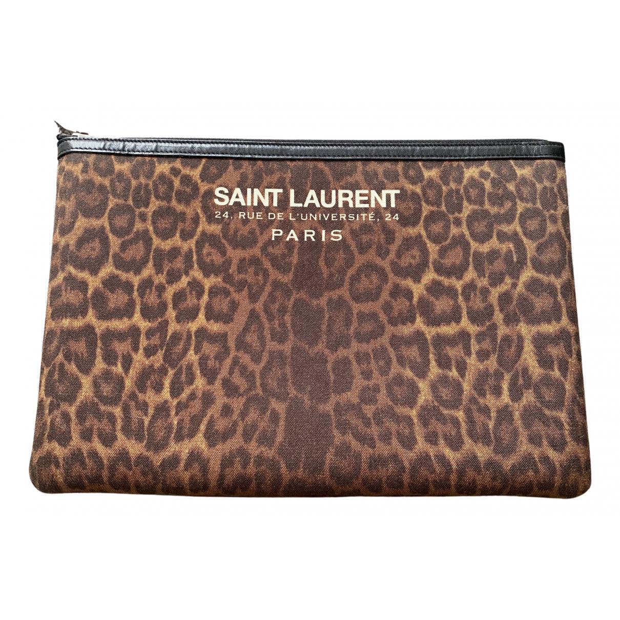 Saint Laurent - Pochette   pour femme en coton