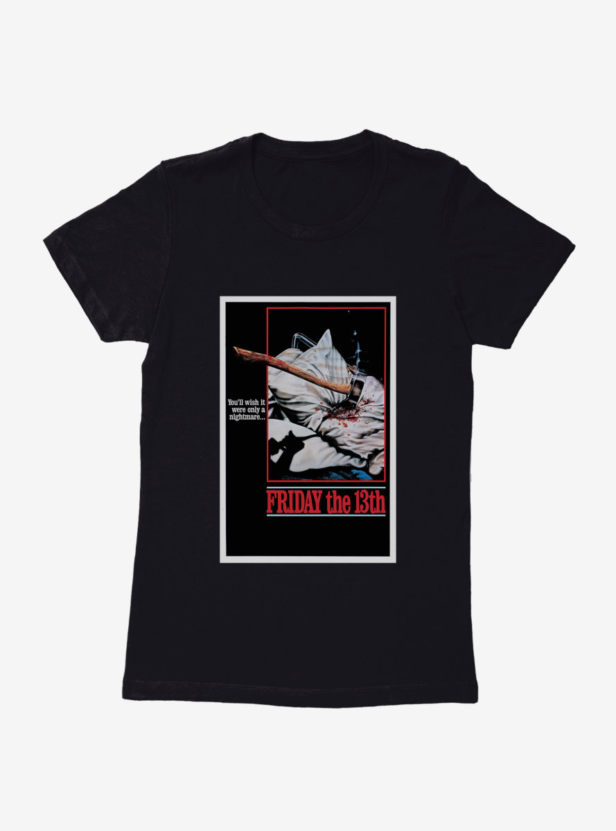 Friday The 13th Nightmare Poster Womens T-Shirt
