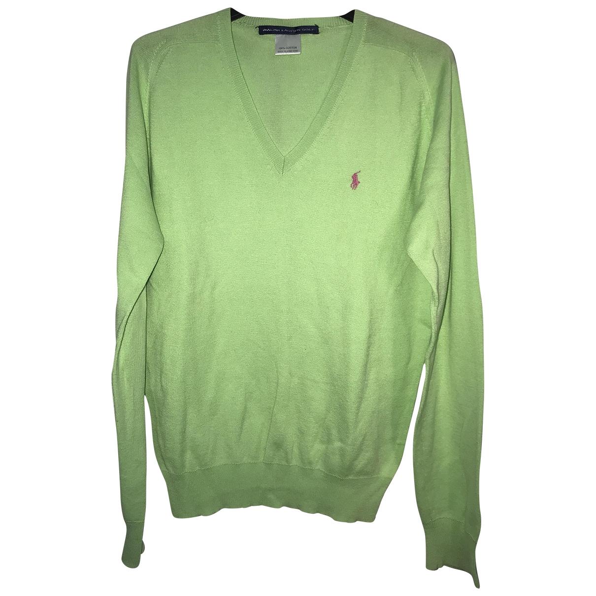 Polo Ralph Lauren - Pulls.Gilets.Sweats Polo ajuste manches longues pour homme en coton - vert