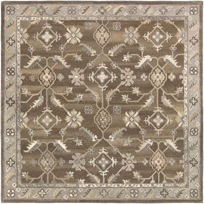 Caesar CAE-1200 6' Square Traditional Rug in