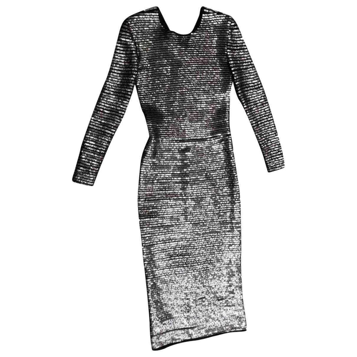 Ermanno Scervino \N Kleid in  Silber Mit Pailletten