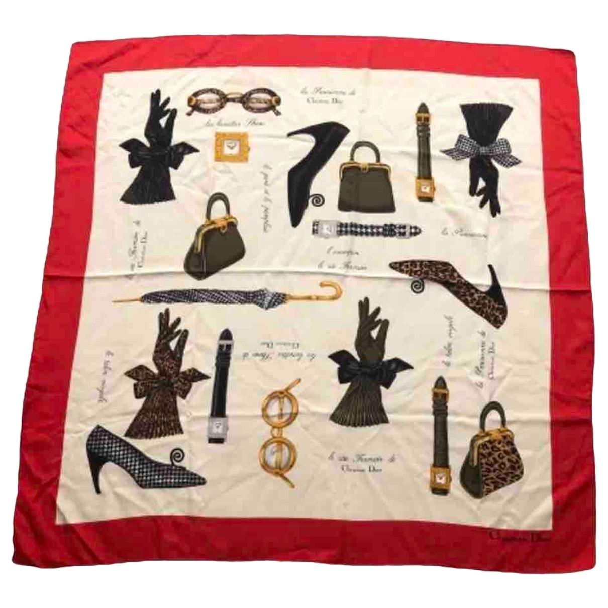 Christian Dior - Foulard   pour femme en soie - multicolore