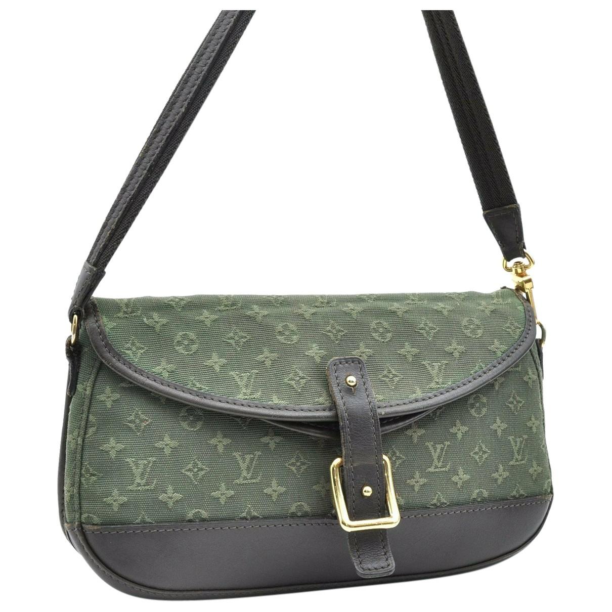 Louis Vuitton \N Handtasche in  Gruen Denim - Jeans