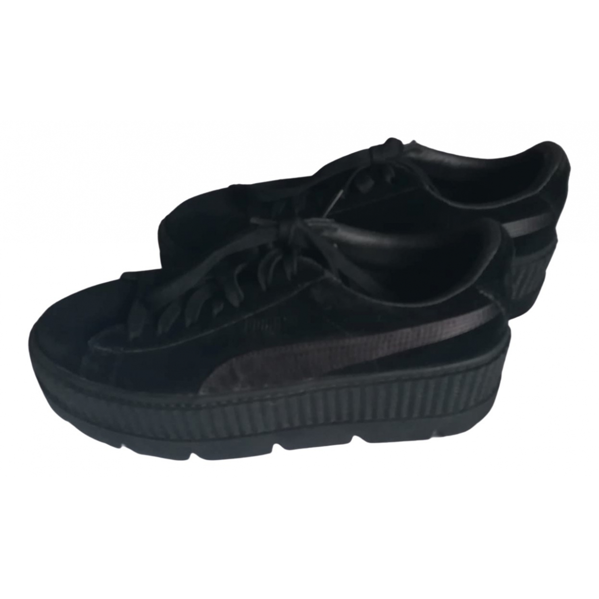 Fenty X Puma - Baskets   pour femme en velours - noir