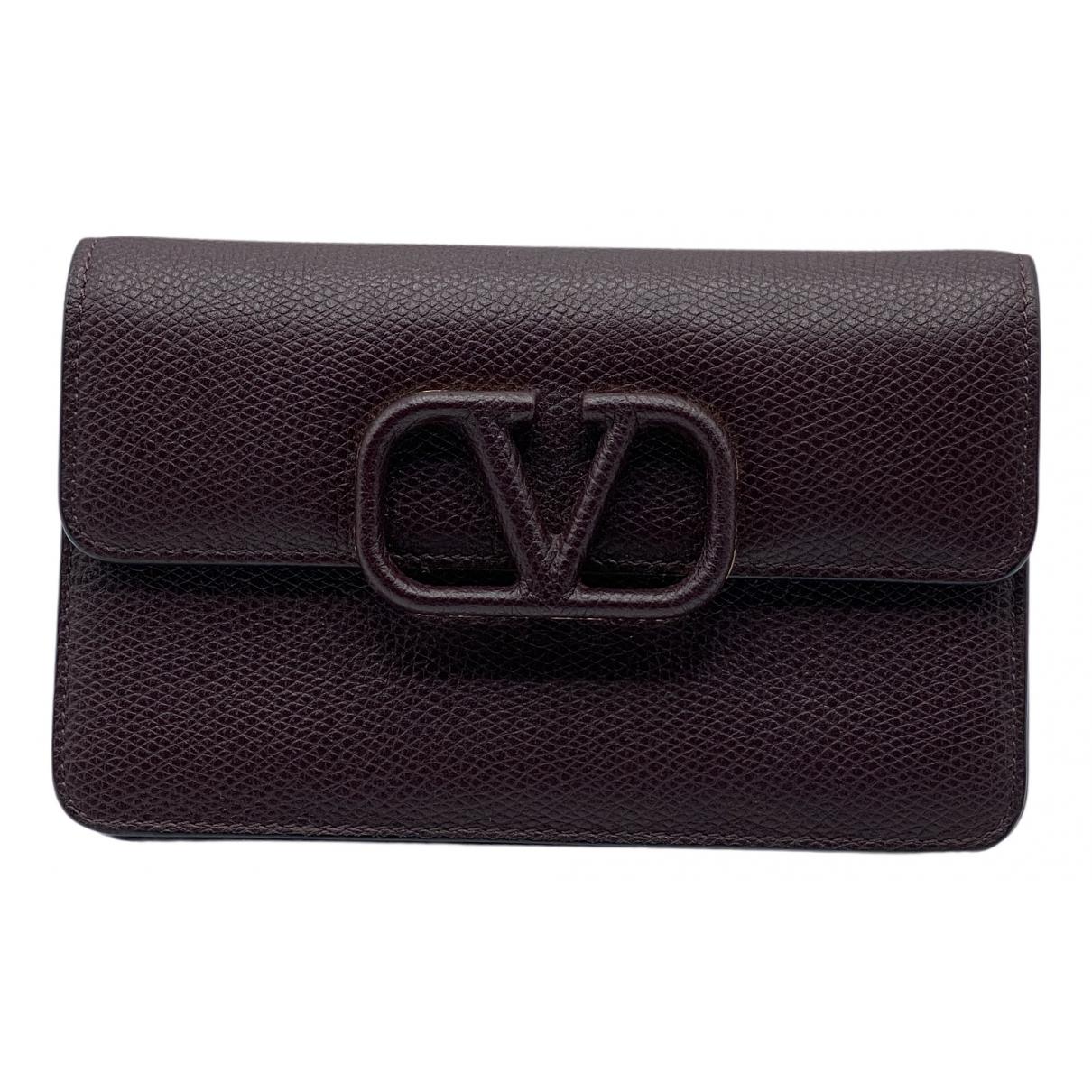 Valentino Garavani \N Burgundy Leather wallet for Women \N