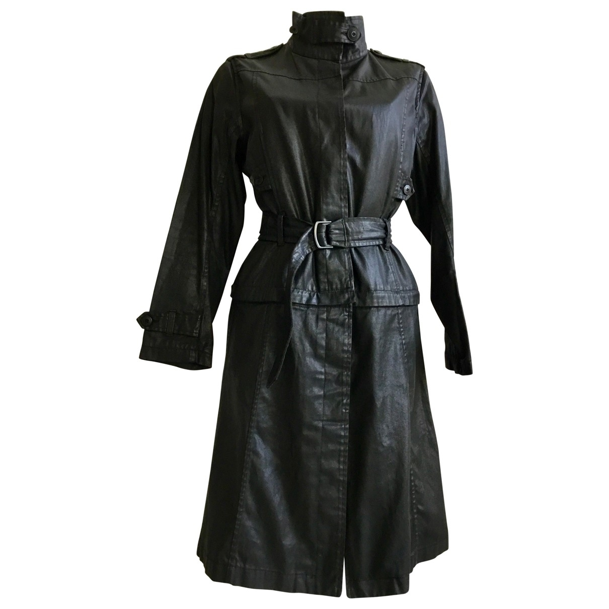 Aigle \N Black Cotton coat for Women 40 FR
