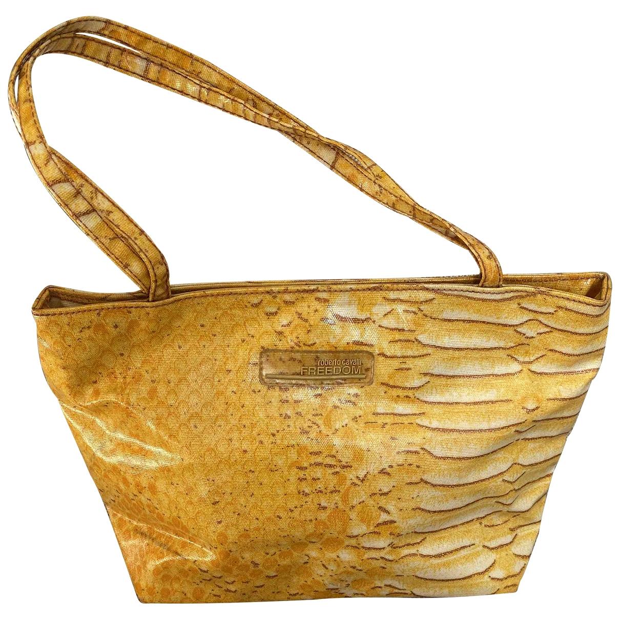 Roberto Cavalli \N Handtasche in  Gelb Leinen
