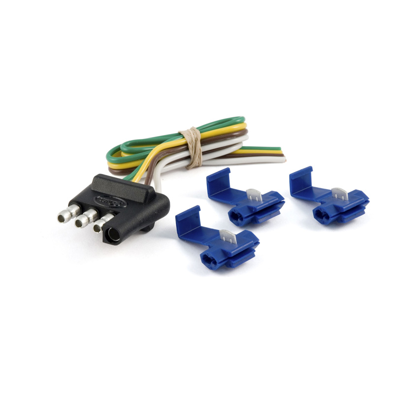 Curt 58033 4-Way Flat Connector Plug with 12