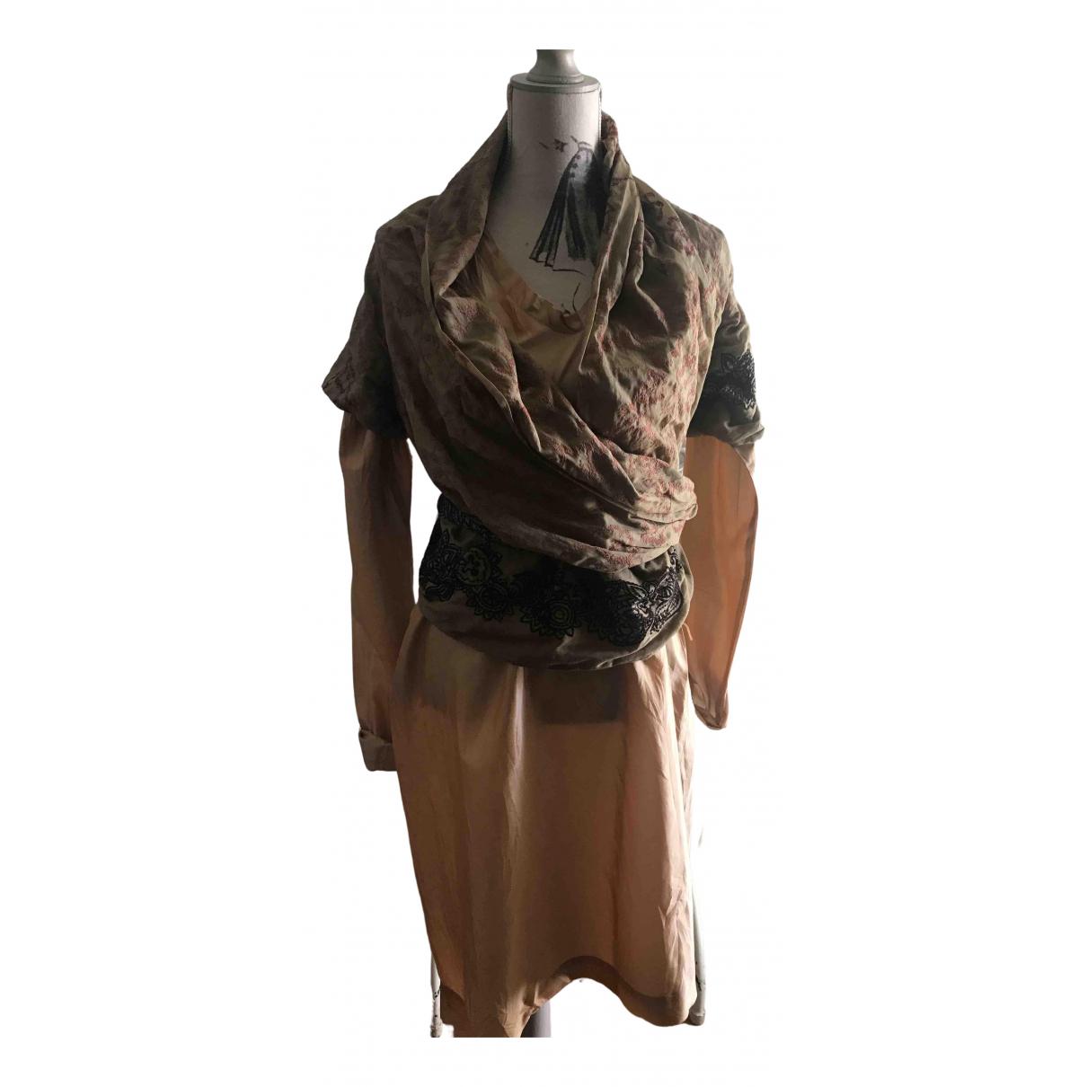 Dries Van Noten \N Kleid in  Gold Seide