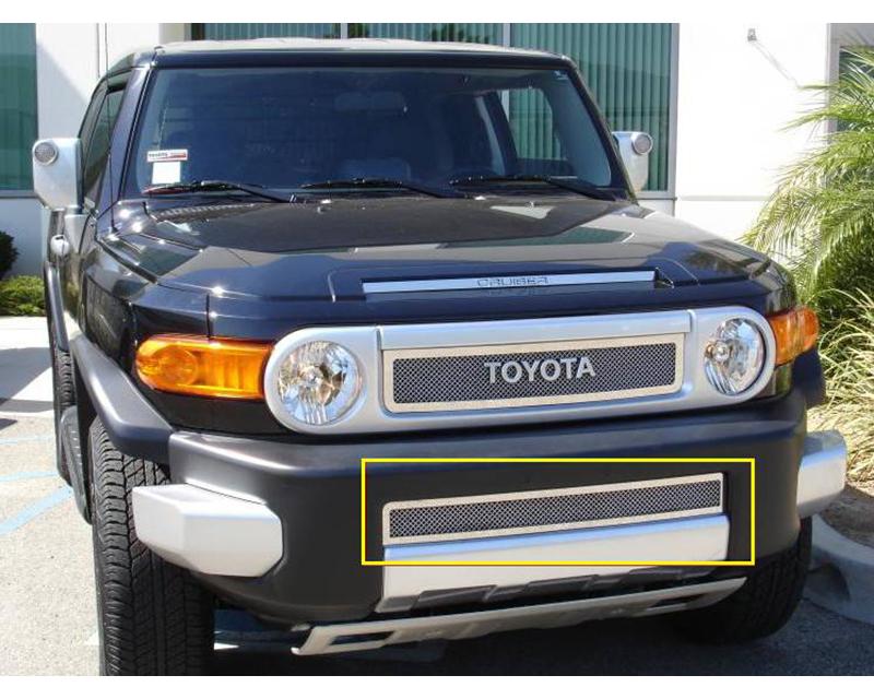 2007-2014 Toyota FJ Cruiser Upper Class Bumper Grille, Polished, 1 Pc, Overlay - PN #55932