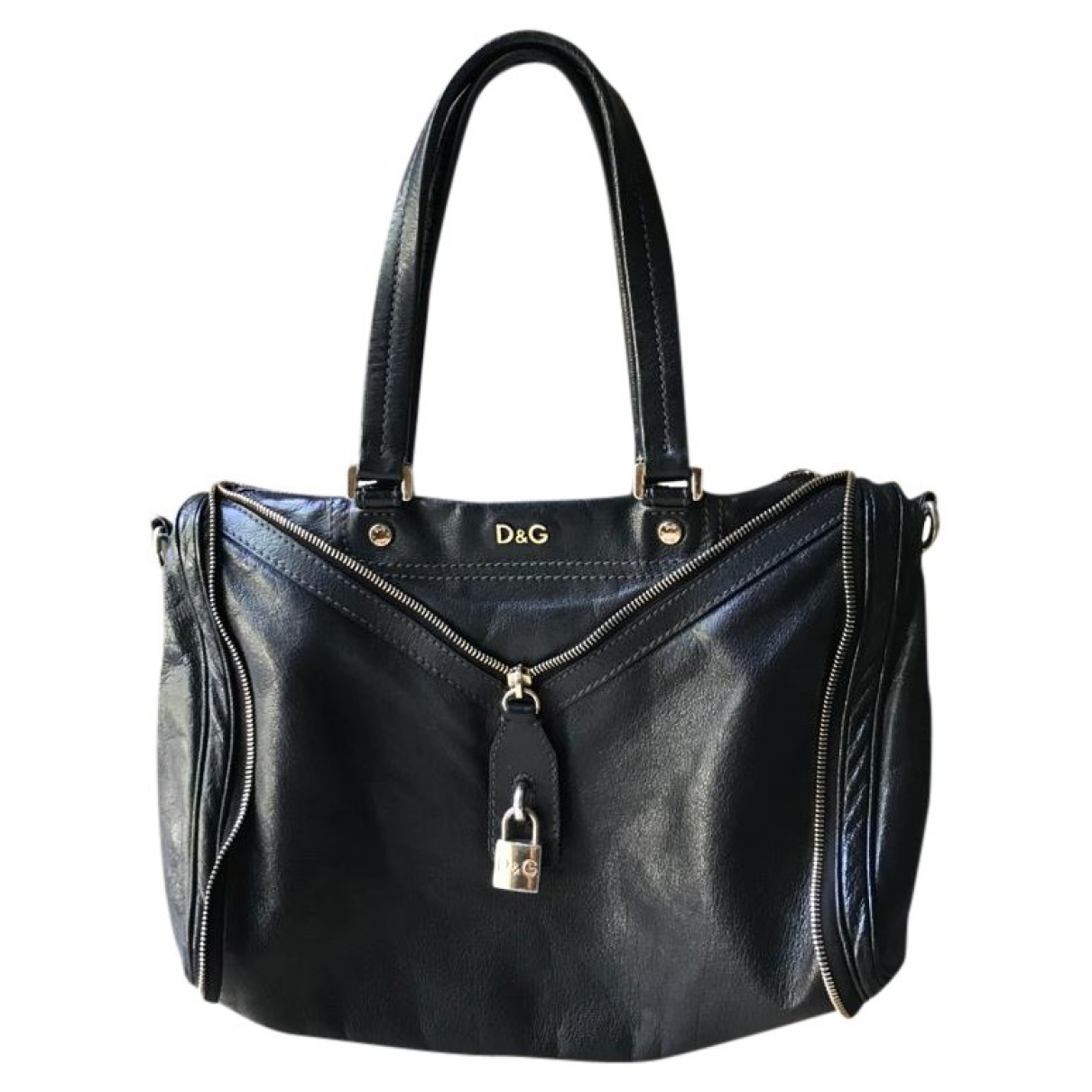 D&g \N Black Leather handbag for Women \N