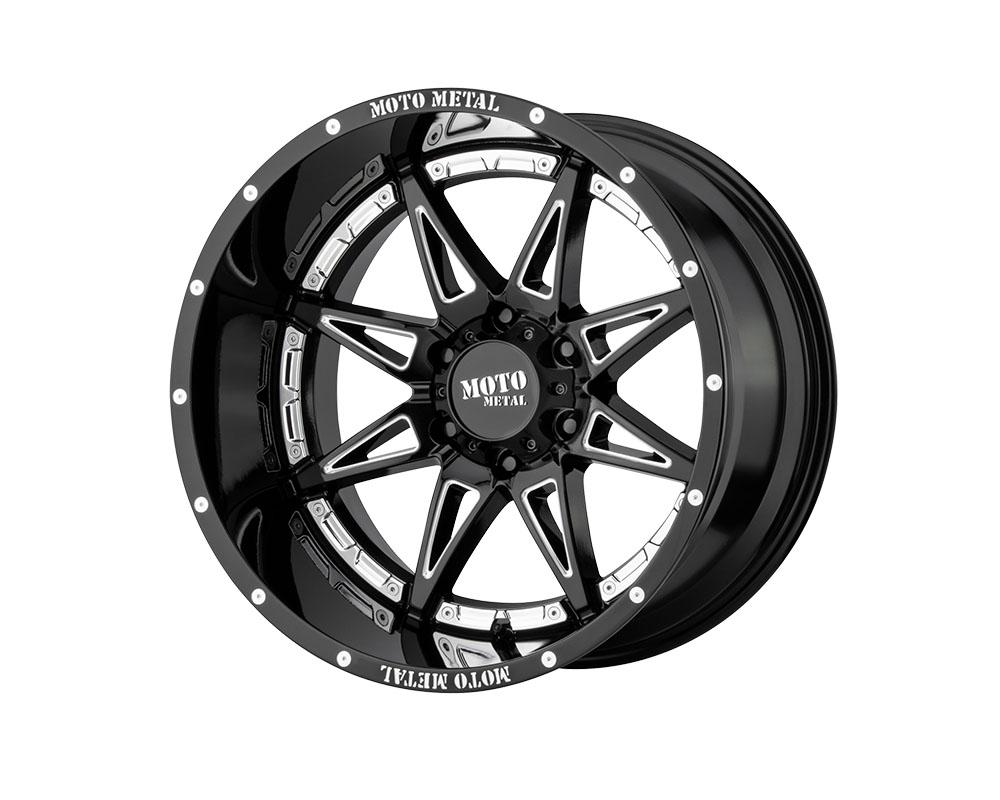 Moto Metal MO99329050318 MO993 Hydra Wheel 20x9 5x5x127 +18mm Gloss Black Milled